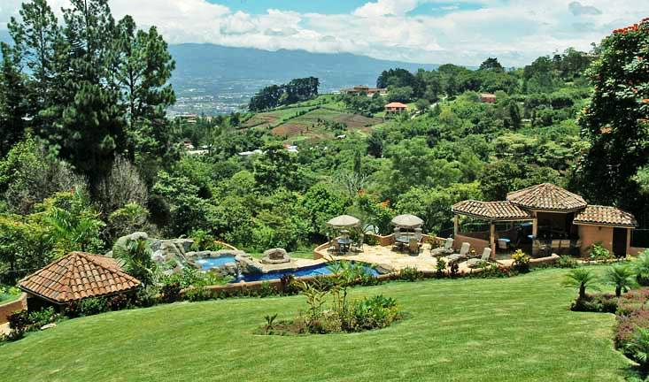 Escazu mountain mansion costa rica property for sale and for Mansions in costa rica